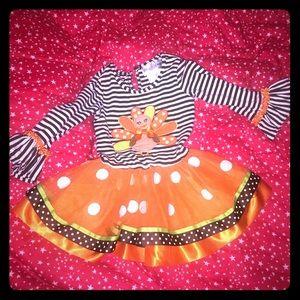 Rare Editions toddler turkey tutu dress